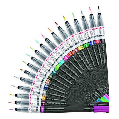colour brush pentel video